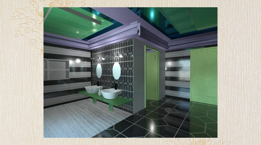 wizualizacja aranżacja wnętrza loftu
