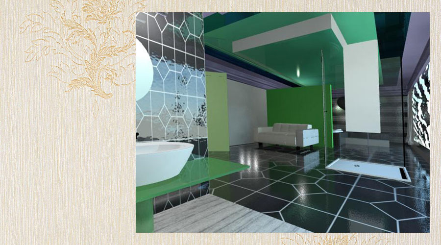 wizualizacja aranżacji wnętrza loftu