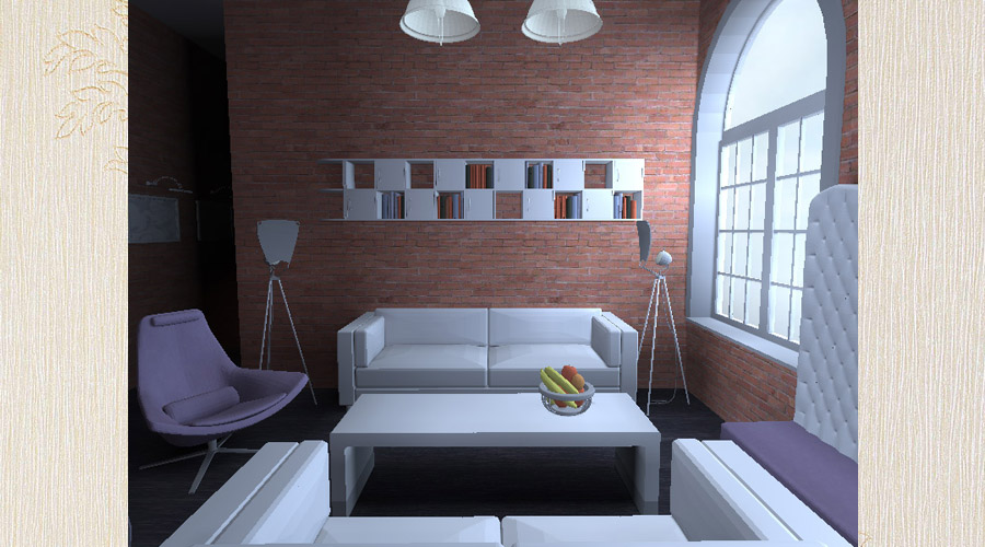 loft - projekt wnętrza
