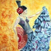 obrazy tańczącej Hiszpanki
