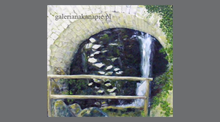Obraz ręcznie malowany: Wodospad