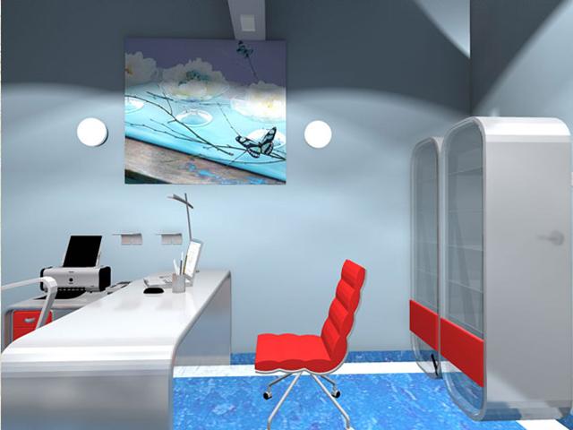 wizualizacja wnętrza gabinetu lekarskiego