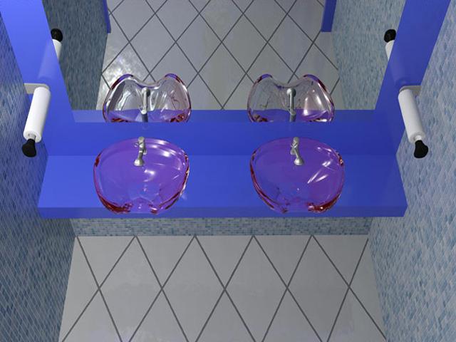 wnętrze przychodni - łazienka