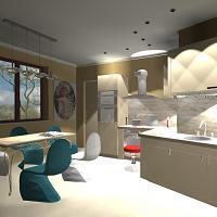 Projekt aranżacji mieszkania w bloku
