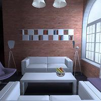 Otwarta przestrzeń loftu daje ogromne możliwości aranżacyjne. Wizualizacja pozwala na rozpatrzenie wielu wariantów projektowych.