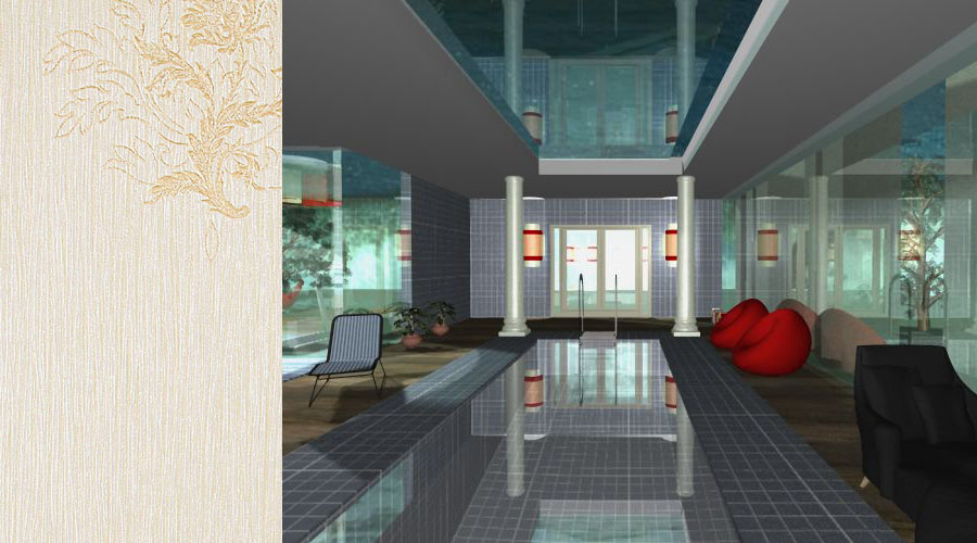 wizualizacja wnętrz pomieszczeń rekreacyjnych