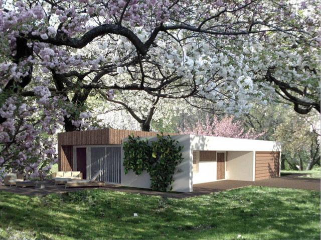 rendering domu jednorodzinnego